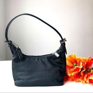 COACH black mini bag shoulder purse EUC Authentic